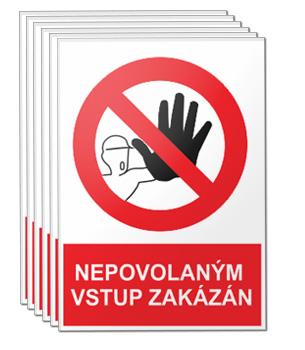 Nepovoleným vstup zakázán - sada